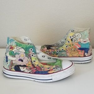 Converse Hand Drawn Adventure Time High Tops Sz 7